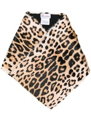 Red Valentino Cheetah Printed Scarf Brown