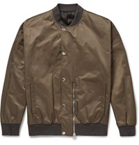 Balenciaga Satin Bomber Jacket Green