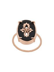Pascale Monvoisin 9Kt Rose Gold Sunday Black Ring 60