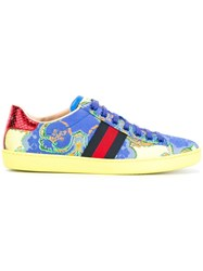 Gucci Printed Ace Sneakers Blue