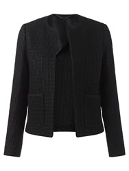 Jigsaw Glimmer Basket Weave Jacket Black