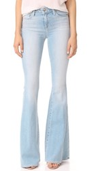 L'agence The Solana Big Flare Jeans Powder