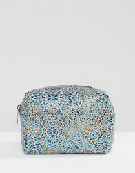 Asos Glitter Leopard Make Up Bag Multi