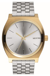 Nixon 'Time Teller' Bracelet Watch 37Mm Silver Gold