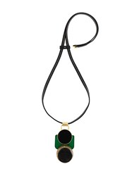 Marni Abstract Pendant Necklace Black