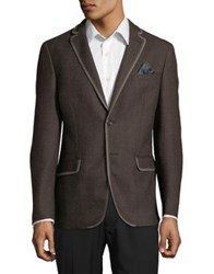 Tallia Orange Classic Wool Jacket Brown