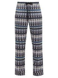 Meng Checked Silk Pyjama Trousers Multi