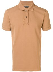 Tom Ford Short Sleeved Polo Shirt Brown