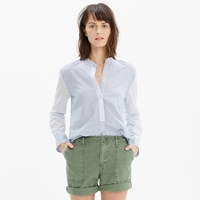 Madewell Wellspring Tunic Popover Shirt In Stripe Mix