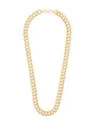 Givenchy Vintage 1980S Vintage Double Chain Link Necklace Metallic