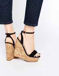 Asos Time Flies Two Part Wedges Black