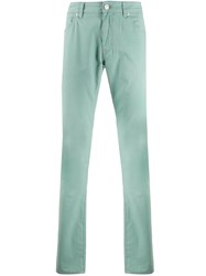 Pt05 Mid Rise Straight Jeans Green