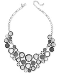 Inc International Concepts Gold Tone Black Stone Bib Necklace Only At Macy's Silver