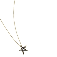London Road Portobello Starry Night 9Ct Gold Large Diamond Star Pendant