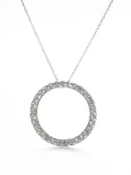Adriana Orsini Pave Circle Necklace Silver