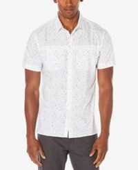 Perry Ellis Men's Flying Arrow Print Shirt A Macy's Exclusive Style Bright White