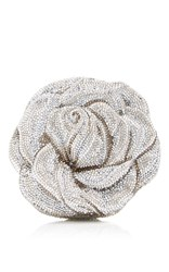 Judith Leiber Couture New Rose Clutch Silver