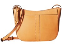 Frye Ilana Zip Crossbody Cognac Cross Body Handbags Tan