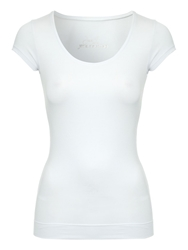 Jane Norman Deep Hem T Shirt White