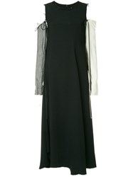 Song For The Mute Loose Flared Dress Black