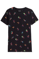 The Kooples Embroidered T Shirt Black