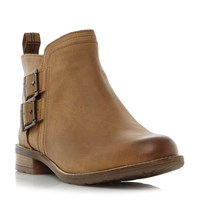 Barbour Sarah Double Buckle Ankle Boots Tan