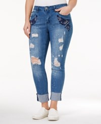 Hydraulic Trendy Plus Size Sophie Ripped Ann Wash Skinny Jeans