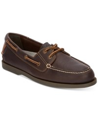 Dockers Vargas Leather Boat Shoes Shoes Chocolate