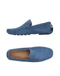 Harmont And Blaine Loafers Pastel Blue