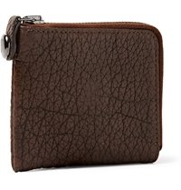 Parabellum Courier Zip Around Leather Wallet Brown