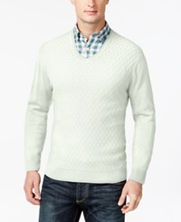 Club Room Big And Tall Diamond Knit Pattern V Neck Sweater Only At Macy's Shell