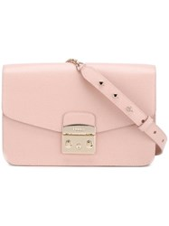 Furla Classic Shoulder Bag Pink Purple