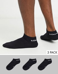Bjorn Borg 3 Pack Trainer Sock Black