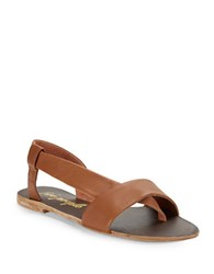 Free People Under Wraps Metallic Leather Gladiator Sandals Taupe