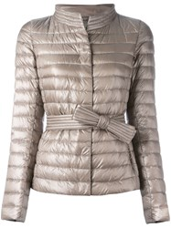 Herno High Neck Puffer Jacket Nude Neutrals