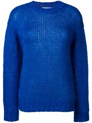 Prada Chunky Knit Sweater Blue