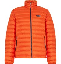 Patagonia Quilted Dwr Coated Ripstop Shell Down Jacket Orange