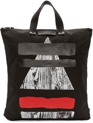 Mcq By Alexander Mcqueen Black Canvas Tote