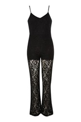 Wyldr No Time Black Lace Jumpsuit By Black