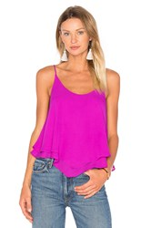 Three Eighty Two Pamela Layered Tank Purple