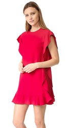 Red Valentino Crepe Ruffle Dress Ibisco