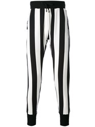 Unconditional Striped Skinny Trousers Men Cotton S Black