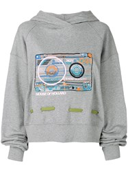 House Of Holland Cassette Oversize Hoodie Grey
