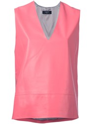 Lanvin Structured Top Pink And Purple