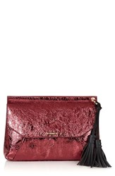 Topshop Metallic Tassel Envelope Clutch