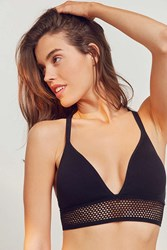 Urban Outfitters Ama Strappy Back Seamless Bra Black