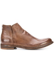 Officine Creative Ideal Boots Men Buffalo Leather Calf Leather 43.5 Brown