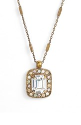 Sorrelli Opulent Octagon Crystal Pendant Necklace Clear