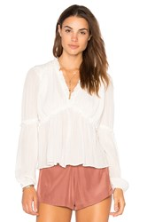 Endless Rose Ruffle Sleeve Accent Top White