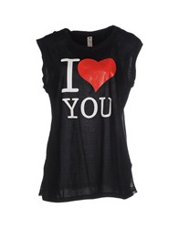 Le Coeur De Twin Set Simona Barbieri Topwear T Shirts Women Black